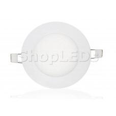 Светодиодная панель BRL-T-120-6W (белый круг, 6W, 120x14mm) (теплый белый 3000K)